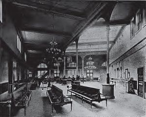 Atlantic Terminal - Image: Long Island Railroad Station interior, Flatbush Avenue ca. 1893