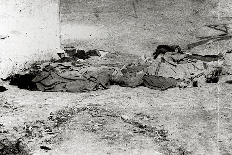 Los Angeles, corpses of Chinese victims, Oct 1871
