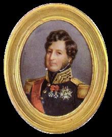 Louis-Philippe, König der Franzosen, Miniatur von François Meuret (Quelle: Wikimedia)