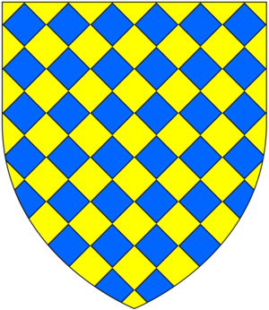 Lozenge (heraldry) - Image: Lozengy Or And Azure
