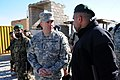 Lt. Gen. Caldwell speaks with Sgt. Maj. of the Afghan National Army (ANA) Roshan Safi during a visit (4250736817).jpg