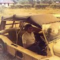 Luc Toulotte at the wheel of his Mini Moke in Morogoro (3084034151).jpg