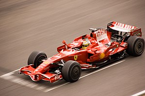 Luca Badoer - Badoer testing for Ferrari at the Circuit de Catalunya in 2008
