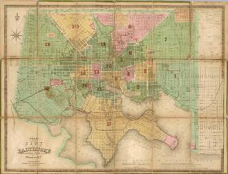 Fielding Lucas Jr. - City plan of Baltimore by Fielding Lucas Jr., 1852