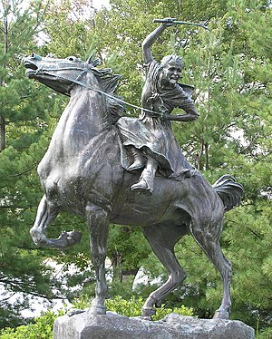 Carmel, New York - The statue of Sybil Ludington on Gleneida Avenue