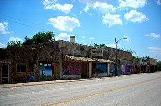 Lueders, Texas - A row of shops in Lueders