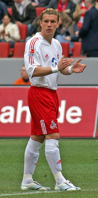 Lukas Podolski - Podolski playing for Köln in 2006