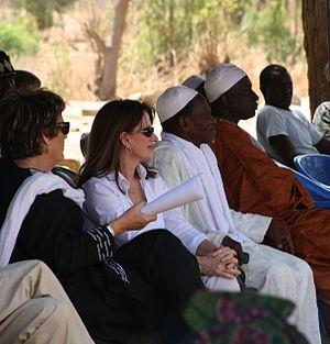 Demba Diawara - Molly Melching, Lynne Featherstone, Demba Diawara and Khalidou Sy in Keur Simbara in 2013