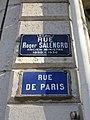 Lyon 9e - Rue Roger Salengro - Plaque actuelle et ancienne (fév 2019).jpg