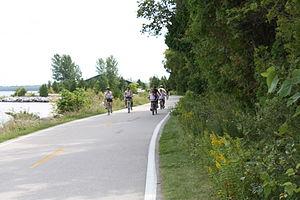 M-185 (Michigan highway) - Image: M 185 Biking near Mile Marker 1