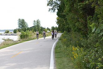 M-185 (Michigan highway) - Image: M 185 Biking near Mile Marker 1