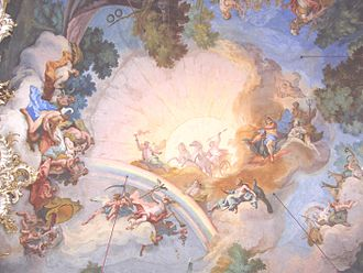 Johann Baptist Zimmermann - Fresco in Nymphenburg Palace