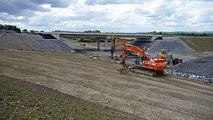 Crusheen - Work on the M18, that took much of the non-local traffic away from the village after completion