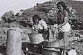 MEMBERS OF KIBBUTZ SDOT YAM DOING THEIR LAUNDRY ON THE SHORE OF ANCIENT CAESAREA. חברות קיבוץ שדות ים מכבסות בגדים על חוף ימה של קיסריה העתיקה.D833-101.jpg