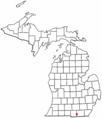 Hudson Township, Lenawee County, Michigan - Image: MI Map doton Hudson