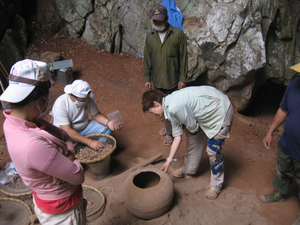 Joyce White - In 2010, MMAP undertook a test excavation at the Tham An Mah rockshelter in northern Laos. During the field season, evidence for Iron Age burials dating to about 2000 years ago, and  Stone Age occupation dating back to about 13,000 years ago, was found in the rockshelter.
