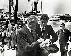 UK Polaris programme - US President John F Kennedy with British Prime Minister Harold Macmillan