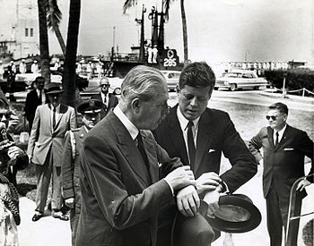 President Kennedy and Prime Minister MacMillia...