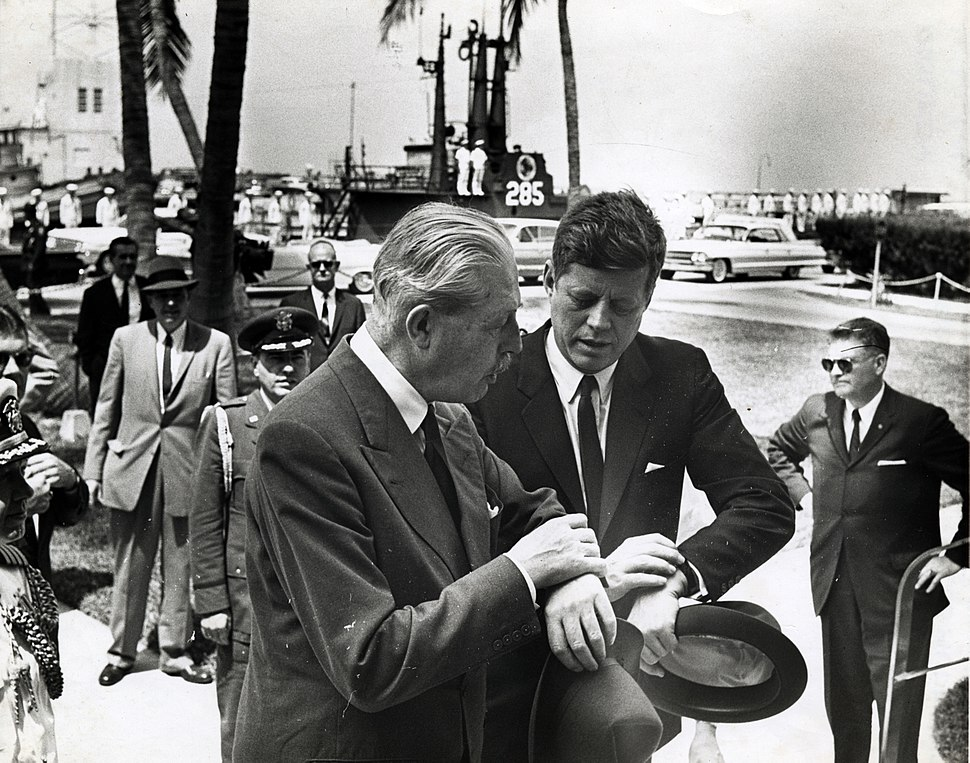 MacMillian and Kennedy in Key West March 1961