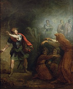 Macbeth and the witches (Romney 1785)