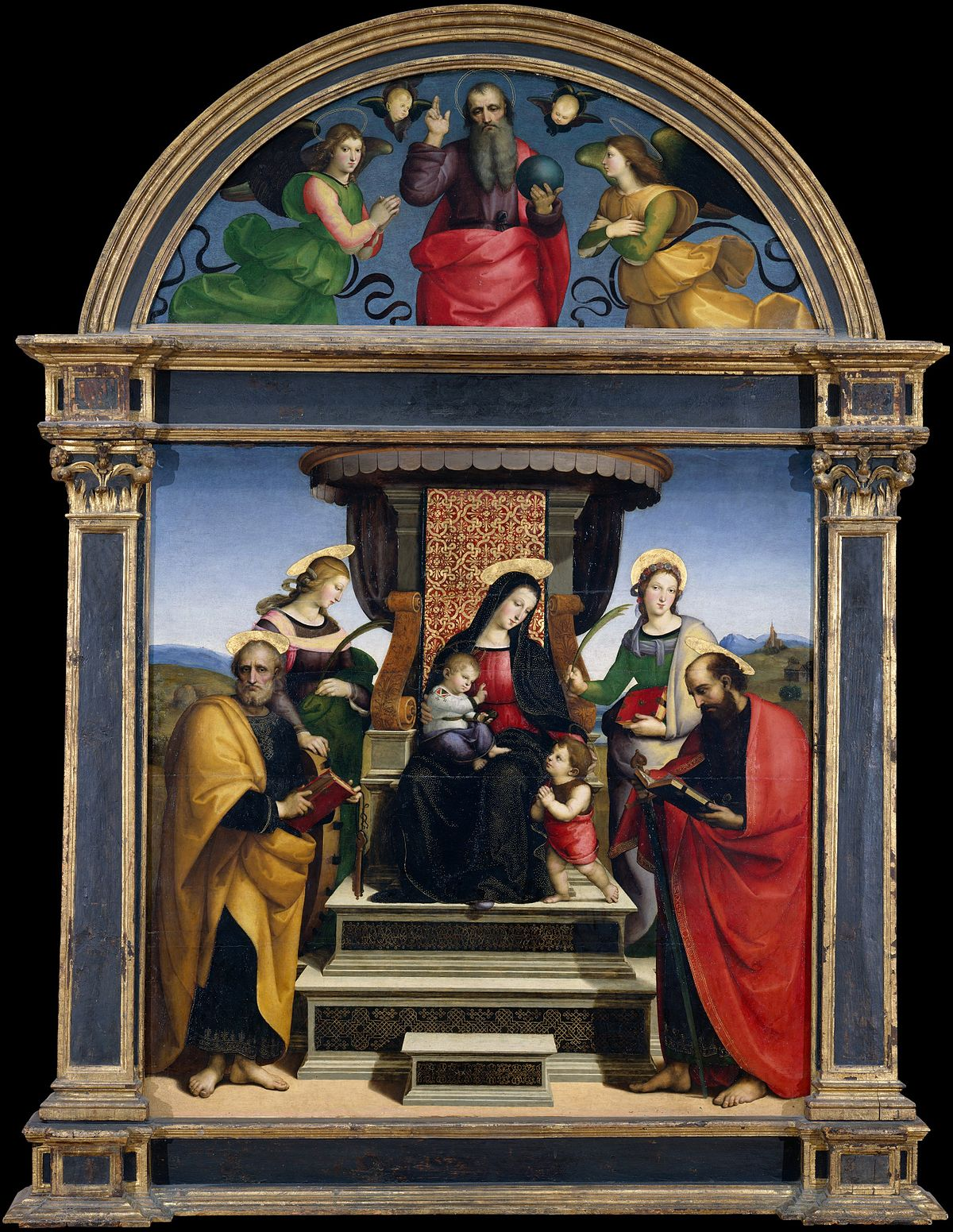 Separation Lame De Bois madonna and child enthroned with saints (raphael) - wikipedia