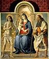 Madonna col bambino tra i SS Sebastiano e Rocco, капитул собораMuseo d'Arte Sacra della Valdarbia di Buoncovento.jpg