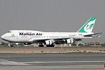 Mahan Air Boeing 747-400 KvW.jpg