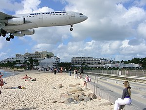 Maho Beach, near Princess Juliana Airport, Caribbean island of Saint Martin-8Feb2008 (3).jpg