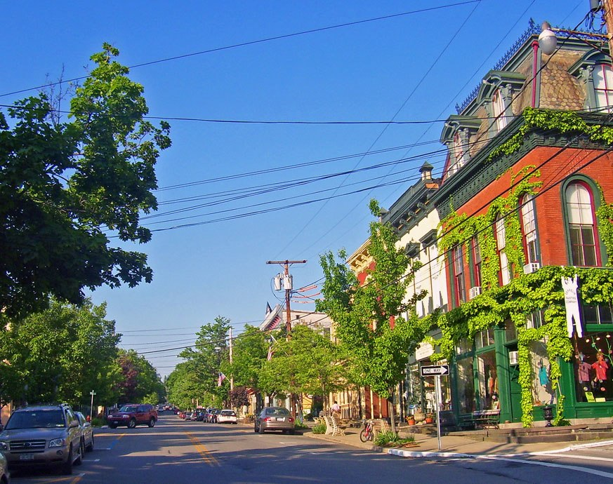 Cold Spring's Main Street, part of the federally recognized historic district in the village