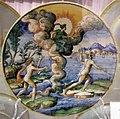 Maiolica di urbino, alfeo insegue aretusa, 1540-60.jpg