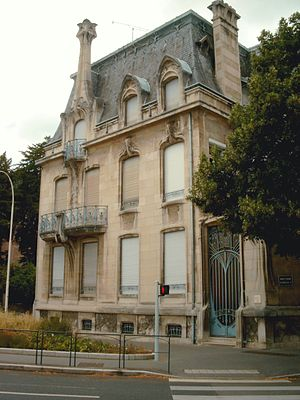 Lucien Weissenburger - Façade of Weissenburger's own house (Immeuble Weissenburger) in Nancy.