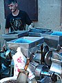 Male Vendor with Coffee Grinders - Gyumri - Armenia (19077466548) (2).jpg
