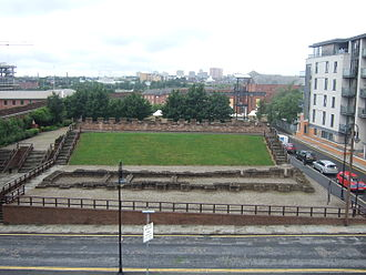 Mamucium - Aerial view of the Roman fort, Castlefield
