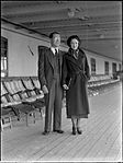 Man and woman on board the SS Mariposa in Sydney Harbour (4623131771).jpg