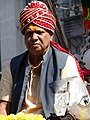 Man in Hindu Religious Procession - BBD Bagh District - Kolkata - India (12268009155).jpg