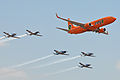 Mango & Silver Falcons Formation - 2014 Waterkloof Airshow (15285243387).jpg