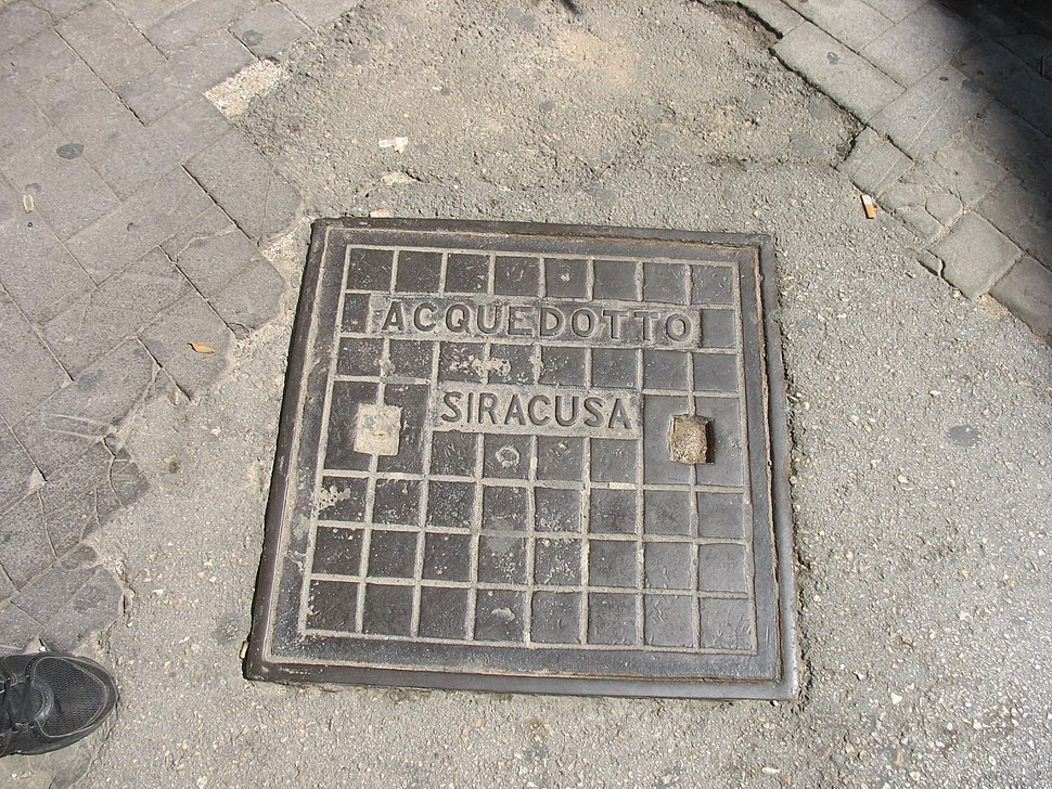 Manhole cover in Siracuza