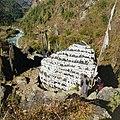 Mani stone, near Lukla, Nepal - panoramio.jpg