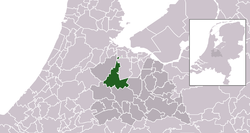 Highlighted position of Stichtse Vecht in a municipal map of Utrecht