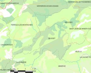 Boisset, Hérault - Map