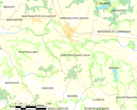 Map commune FR insee code 40145.png