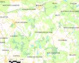 Fontaines-en-Sologne – Mappa