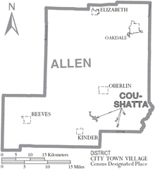 Map of Allen Parish Louisiana With Municipal Labels.PNG