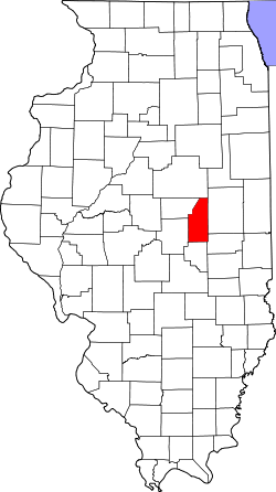 Harta e Piatt County në Illinois