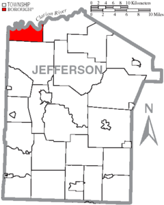 Map of Jefferson County, Pennsylvania Highlighting Barnett Township.PNG