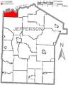 Map of Jefferson County, Pennsylvania Highlighting Barnett Township.PNG