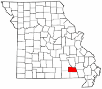 Map of Missouri highlighting Carter County.png