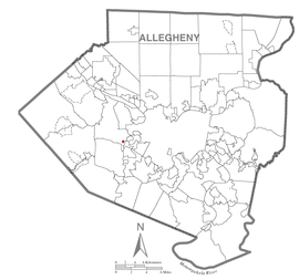 Map of Pennsbury Village, Allegheny County, Pennsylvania Highlighted.png
