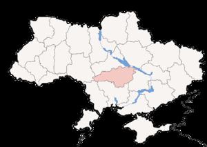 Кировоградская область на карте