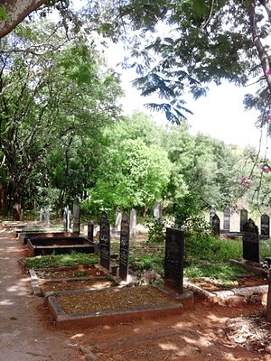 Religion in Karnataka - A Muslim cemetery in Chamarajanagar